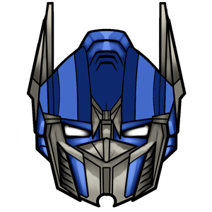 Optimus prime face coloring pages for Jordan wohnzimmertisch