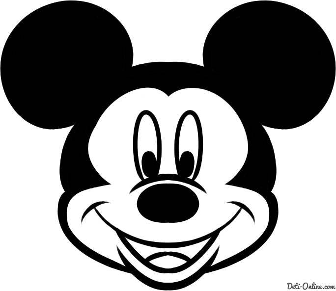 Simple mouse head drawing